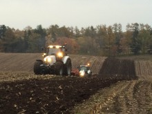 October 2014, White tractors in the Japanese fields